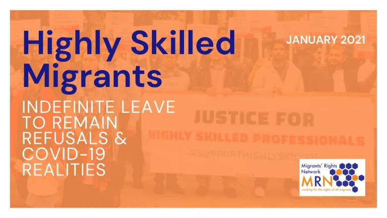 Migrants' Rights Network publishes report on Highly Skilled Migrants left destitute in UK.